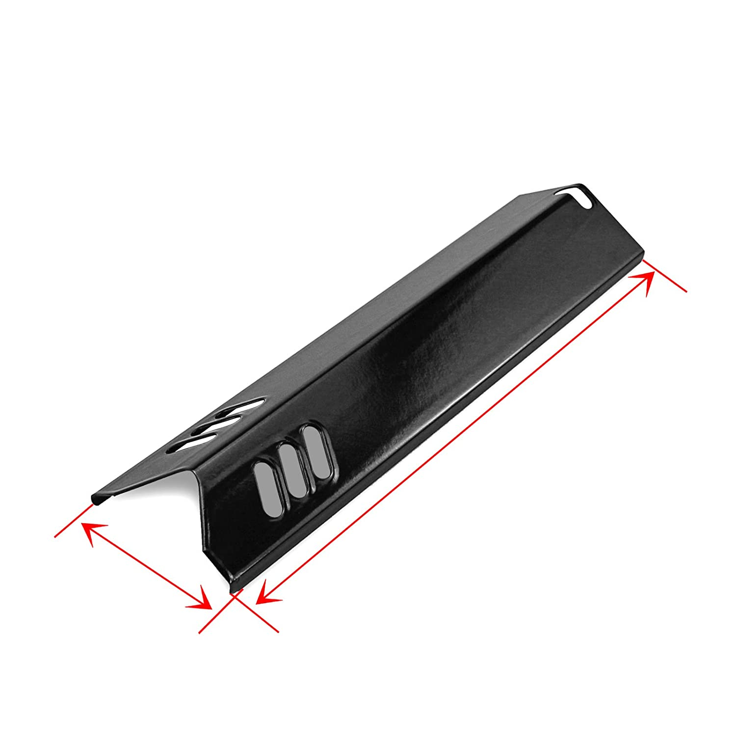 Porcelain Steel 4 Pack BY14-101-001-04 Uniflame Utheer 15 in Grill Heat Shield Plate//Burner Cover//Flame Tamer for Backyard GBC1460W Dyna-glo BY13-101-001-13 GBC1461W BHG Grill Models Montana