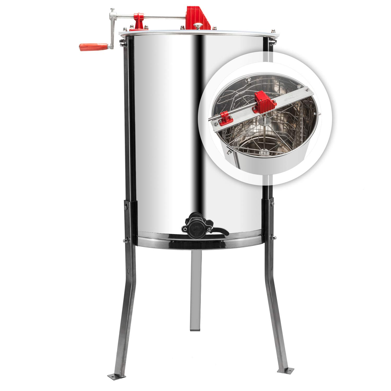 Amazon.com: VINGLI - Extractor manual de miel de manivela de ...