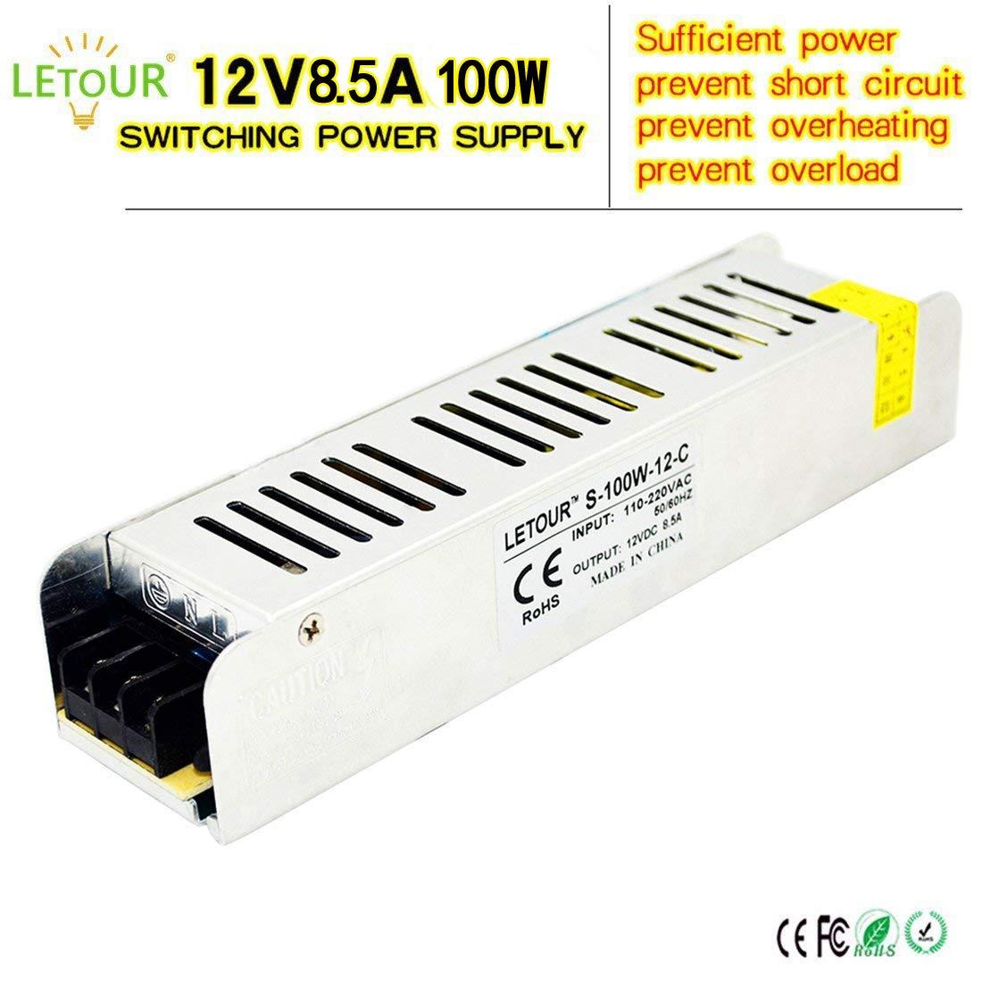 Letour Dc 12v Power Supply 20a 240w Ac 110v 220v Converter Inverter 100w To 12volt 20amp