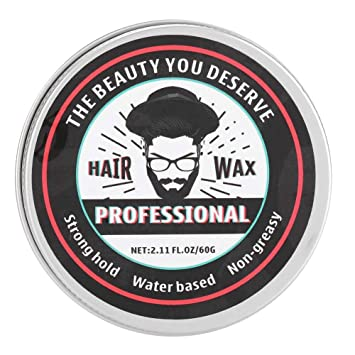 Amazon Com 60g Hair Styling Wax Water Soluble Easy To Wash Moisturize And Conditioning Hair Clay Quick And Simple To Use For All Hair Style Beauty