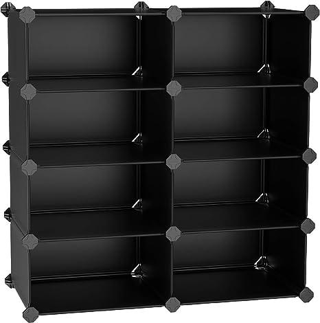 Amazon Com Songmics 4 Tier Shoe Rack Space Saving 16 Pair Plastic Shoe Storage Organizer Units Cabinet Storage Organizer Ideal For Entryway Hallway Bathroom Living Room And Corridor Black Ulpc24h Home Kitchen