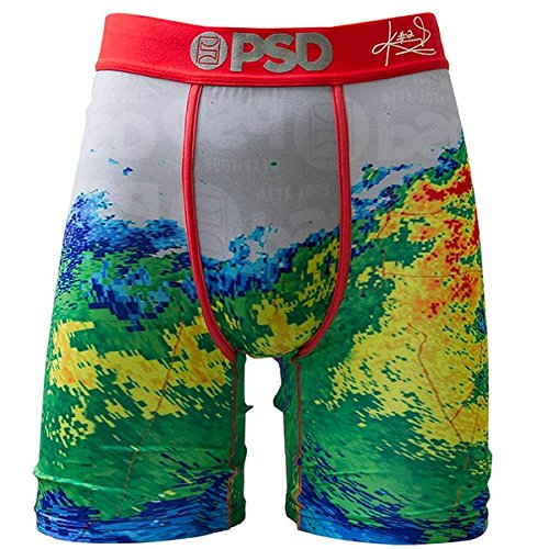 Cotton V-neck Boxers - PSD Men's Doppler Boxer Briefs, White, XLarge