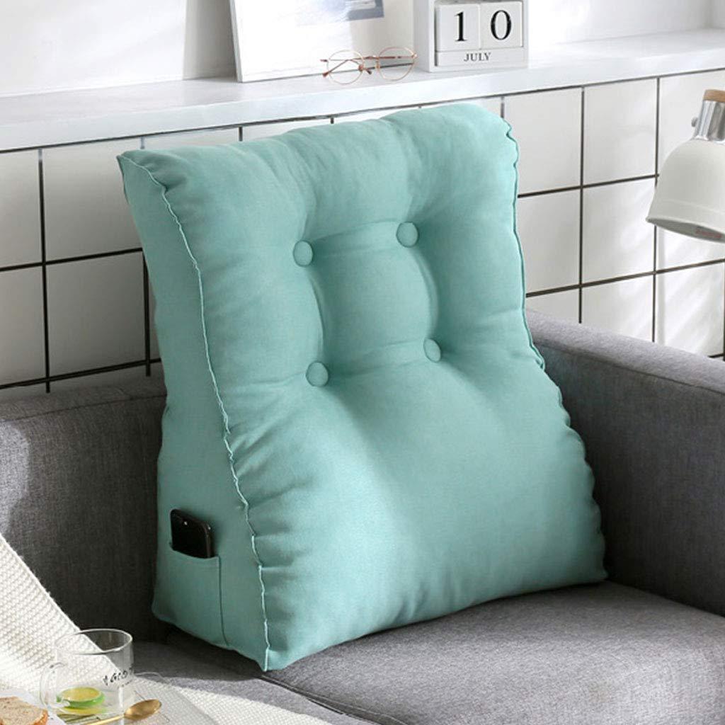 Divano letto grande triangolo triangolo tallone materasso posteriore imbottito in cotone cuscino lettura vita pad staccabile adatta curva vita 60X55X25cm ( Colore : Gray , dimensioni : 55*45*20cm ) YXNN
