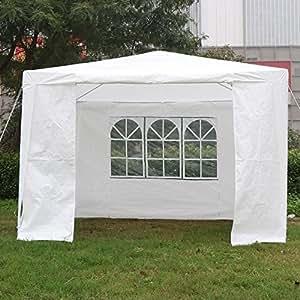 tinkertonk - Toldo para fiestas, resistente al agua y UV, uso al aire libre, 3 x 3, 6 y 9 m, color blanco
