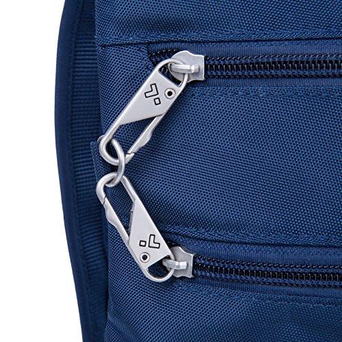Travelon Anti-Theft Classic Slim Dbl Zip Crossbody Bag, Midnight by Travelon (Image #4)