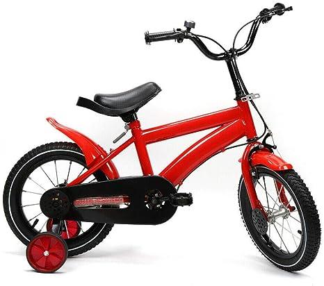 Yunrux - Bicicleta infantil de 14 pulgadas para niños y niñas, con ...