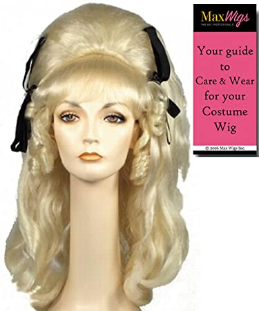 44051d0a004 60s Vamp Beehive Color Black - Lacey Wigs Women s Large Rockabilly With  Ribbons Cramps B54 Bundle