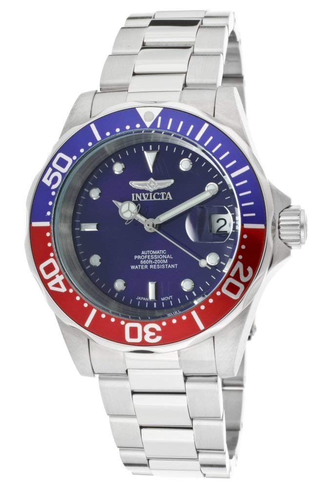 Men's Pro Diver Automatic Stainless Steel Watch, Silver (Model: 5053)