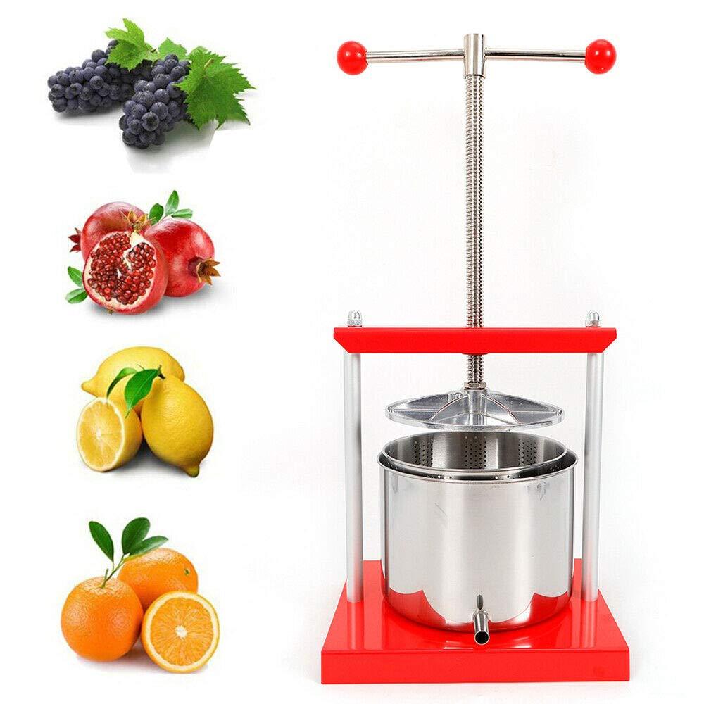 Dyrabrest 5.3L Stainless Steel Fruit Press Cider Grape Crusher,Juice Maker machine for Kitchen Vegetable