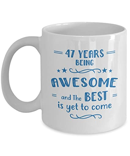Amazon Happy 47th Birthday Mug