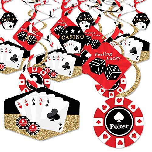 Las Vegas - Casino Party Hanging Decor - Party Decoration Swirls - Set of 40]()