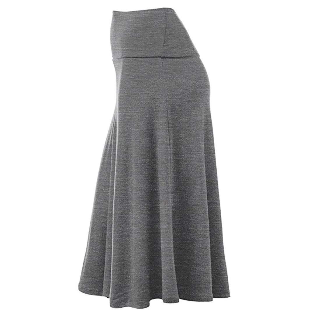 4bc9c0e5c845 Amazon.com: Halloween Promotion! Clearance! Teresamoon Women Plus Size  Solid Flare Hem High Waist Midi Skirt Uniform Pleated Skirt: Arts, Crafts &  Sewing
