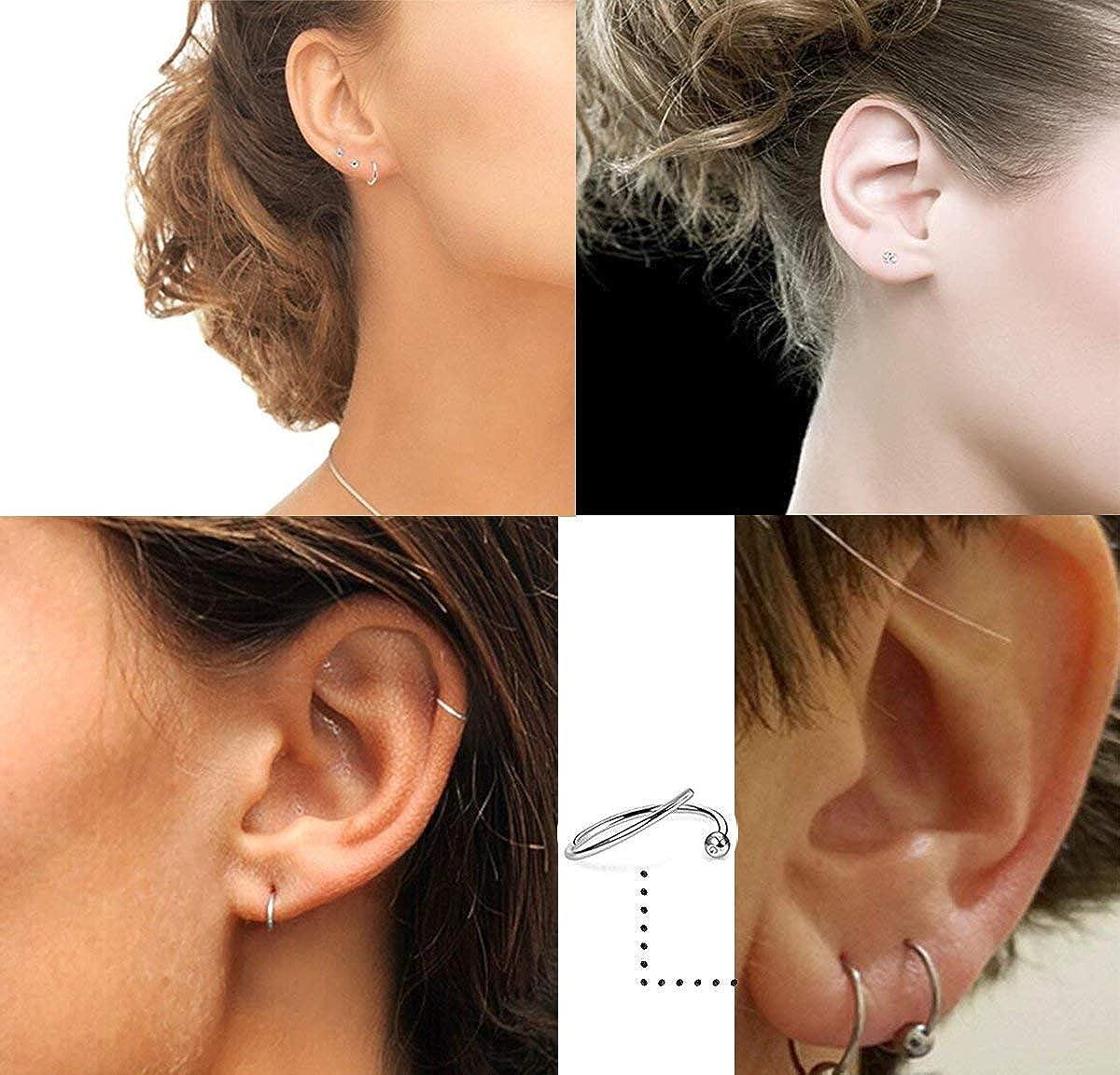 Boucle d/'oreille en acier inoxydable cartilage tragus Helix boucles d/'oreillesRK