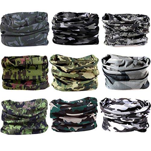 NEXTOUR Neck Gaiter Headwear Headband Magic Scarf Seamless Bandana for Runing, Fishing, Hiking, Motorcycle 12 in 1 Multi Function for Women and Men