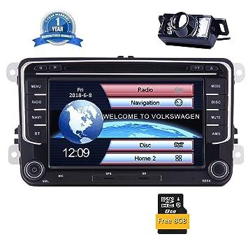 EinCar 7 Pantalla t¨ctil capacitiva del GPS de Coches Reproductor de DVD Compatible