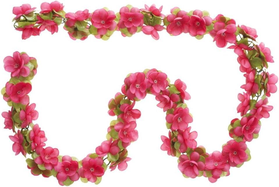 Basil Fahrrad Blumengirlande fuchsia
