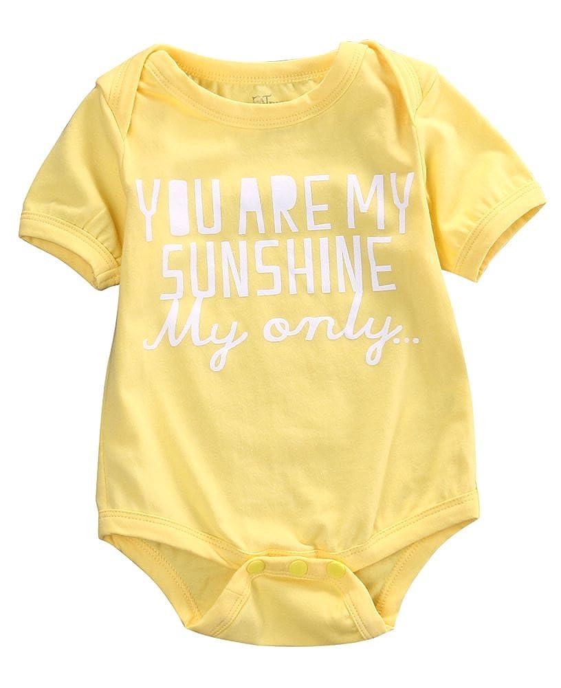 4afda395f Amazon.com  Lily.Pie Yellow Sunshine Baby Infant Cotton Bodysuits ...