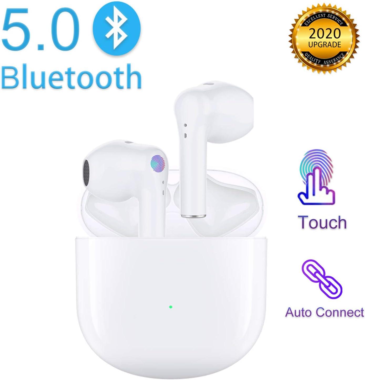 Auriculares Bluetooth,Auriculares Inalámbricos Bluetooth 5.0 en la Oreja con Caja de Carga rápida,Micrófono Incorporado Control Táctil auricular,Reproducción de 24H,para iPhone Apple Android