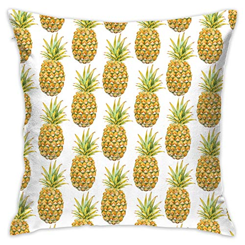 FRS Ltd Psych Wallpaper Pineapple Throw Pillow Cases Square Flax Cushion Cover for Cars Sofa Bars Home Decorative 18x18 Pillowcase