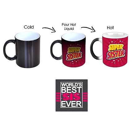 YaYa CafeTM Birthday Gifts For Sister Super Printed Ceramic Coffee Magic Mug Coaster