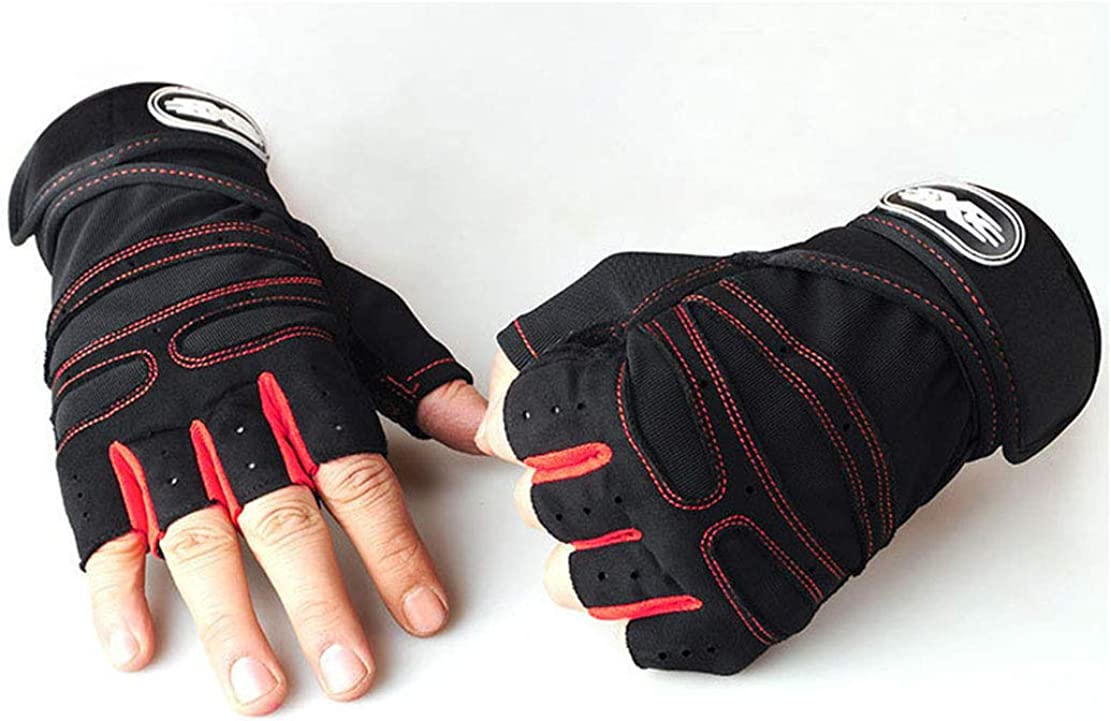 Half Fingerless Motorcycle-Gloves Gel-Cycling for Men