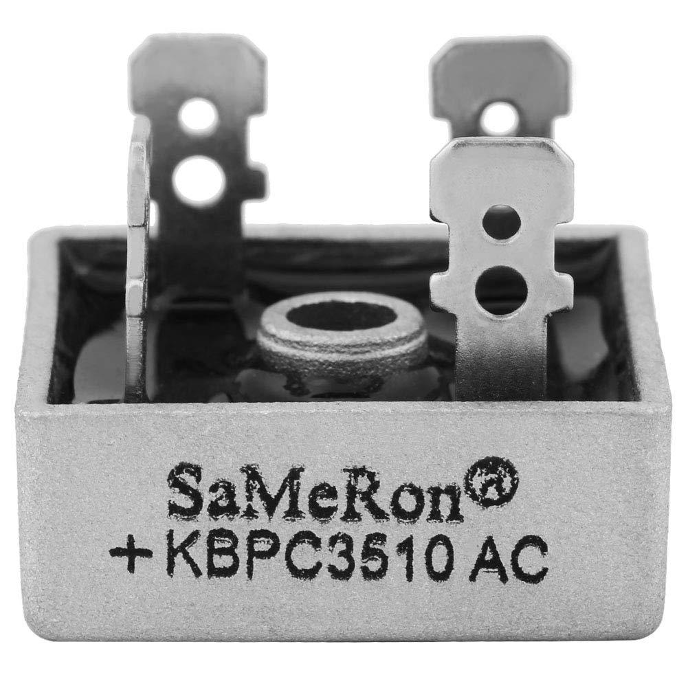 10Pcs Full Bridge Rectifier KBPC3510 35A 1000V Metal Case Single Phase Diode Bridge Rectifier AC to DC Walfront