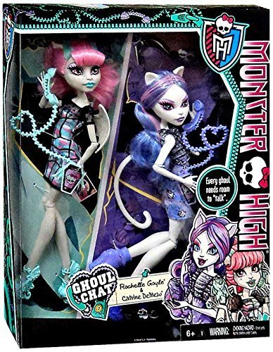Monster High Ghoul Chat Doll 2-Pack Rochelle Goyle & Catrine DeMew -
