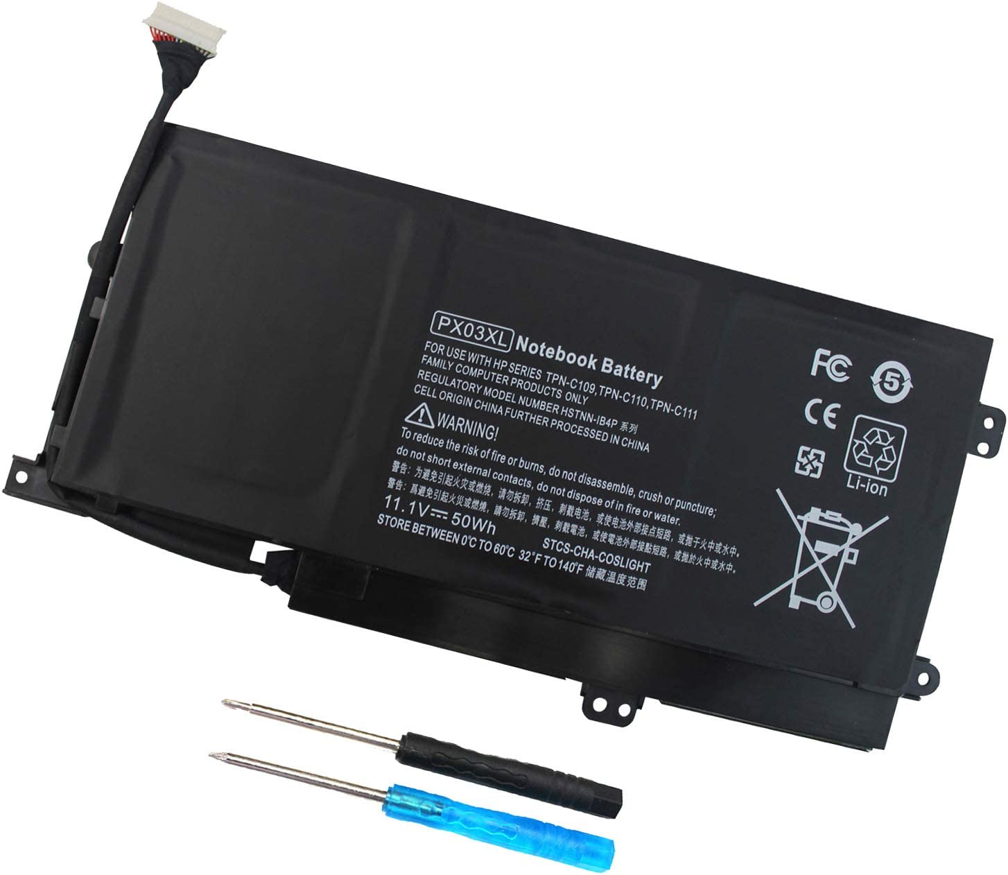 PX03XL Notebook Battery for HP Envy 14 Touchsmart M6 M6-K M6-K125DX M6-K015DX M6-K025DX M6-K010DX M6-K022DX 14- K112NR 715050-001 714762-1C1 TPN-C109 TPN-C110 TPN-C111-12 Month Warranty