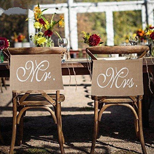 Stuhl Banner Set Hochzeit Dekoration Durch Lintimes 1 Set Von 2 Jute
