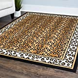 Contemporary Area Rug, Home Dynamix Zone 4'x5' Leopard
