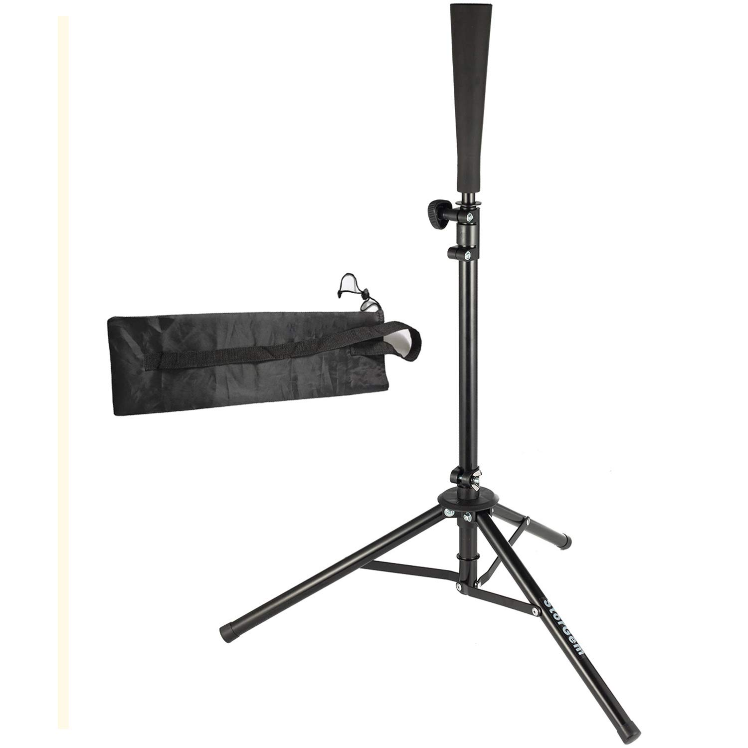 Storgem Batting Baseball tee Softball Adjustable Tripod Stand Tee for Hitting Training Practice,Carrying Bag by Storgem