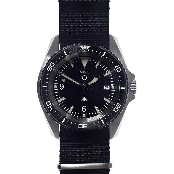 MWC Diver - Reloj automático de Acero Negro y cerámica de ...