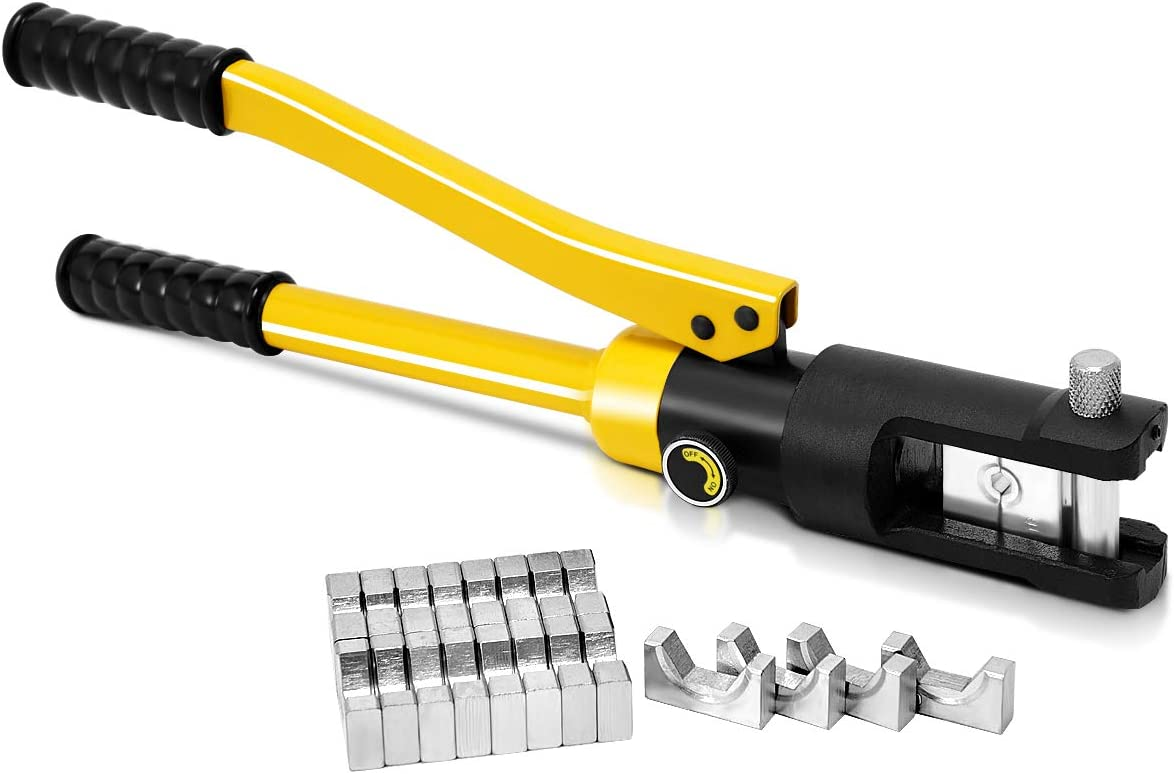 Goplus 16 Ton Hydraulic Cable Lug Terminal Crimping Tool with 11 Dies