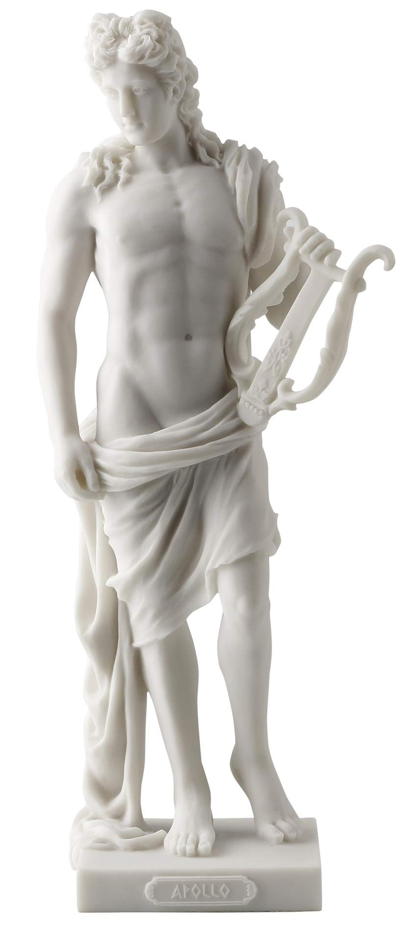 Apollo - Greek God of Light, Music and Poetry Statue White Finish by JFSM INC