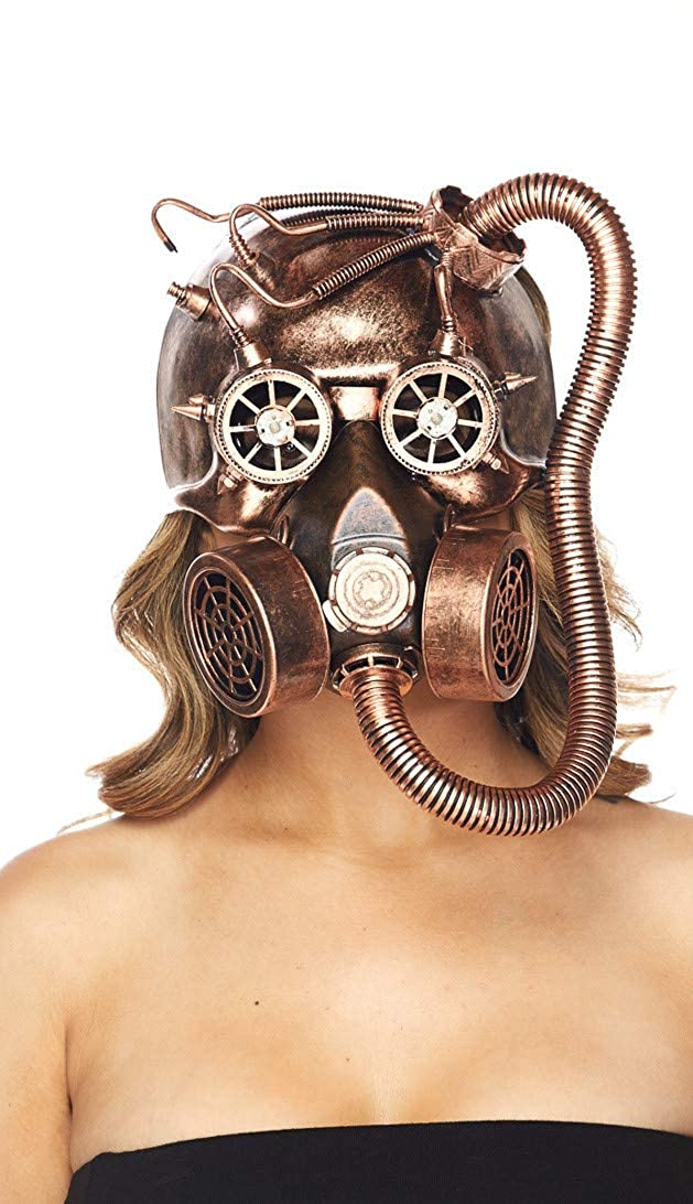 Halloween Steampunk Top Hat in Gold and Silver SOHO GLAM Sohogirl.com AMZSTEAMPUNK-Black Gas Mask-One Size