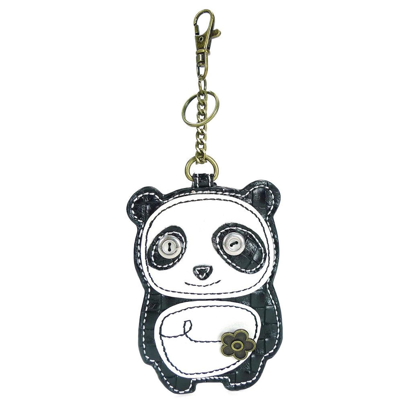 Chala Key Fob/Coin Purse- Dada Panda, Black/White
