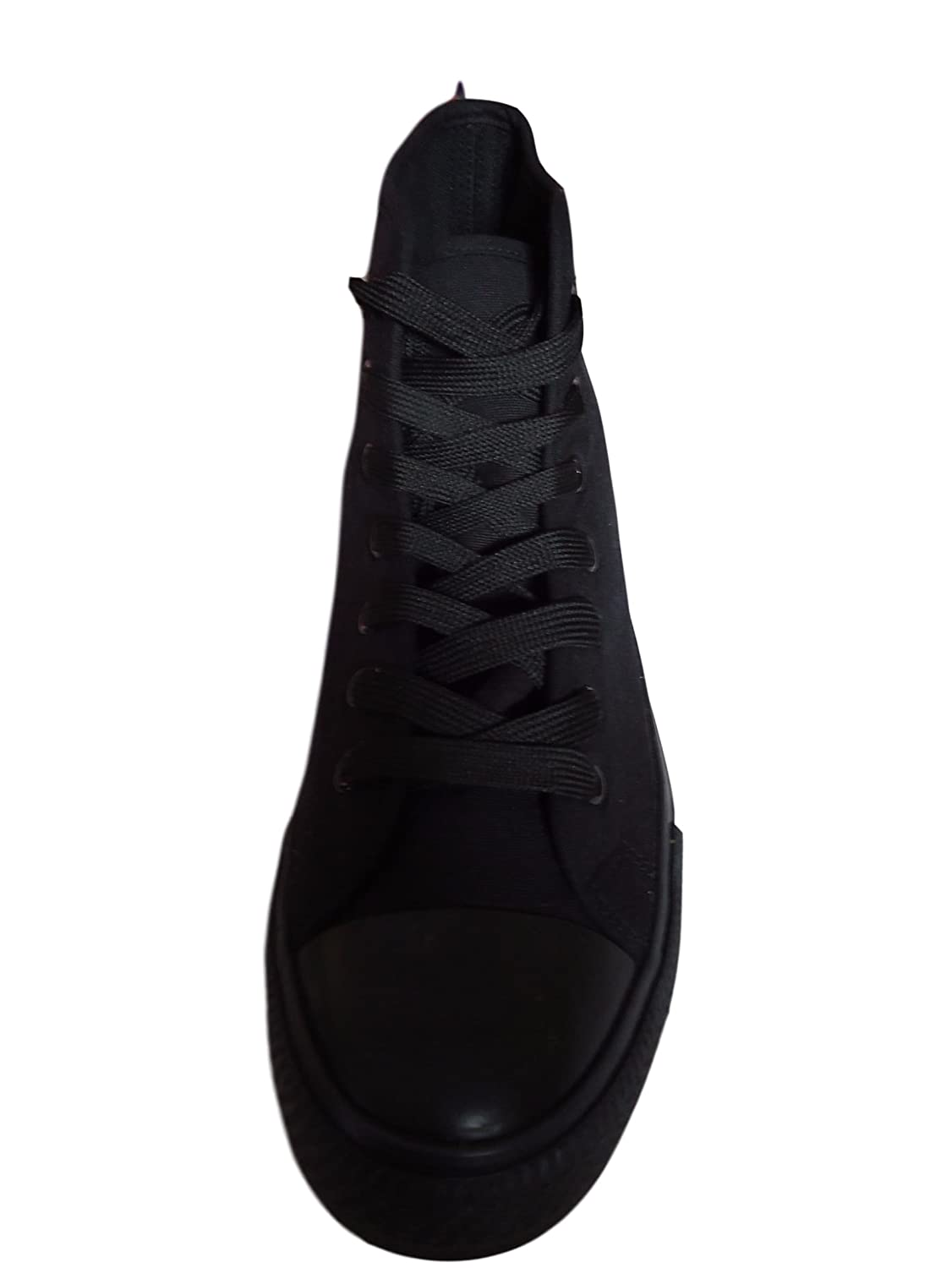 0dd06f52478f Black High Top Ankle Boots Canvas Baseball Trainers Womens Mens Plimsolls  Pumps  Amazon.co.uk  Shoes   Bags