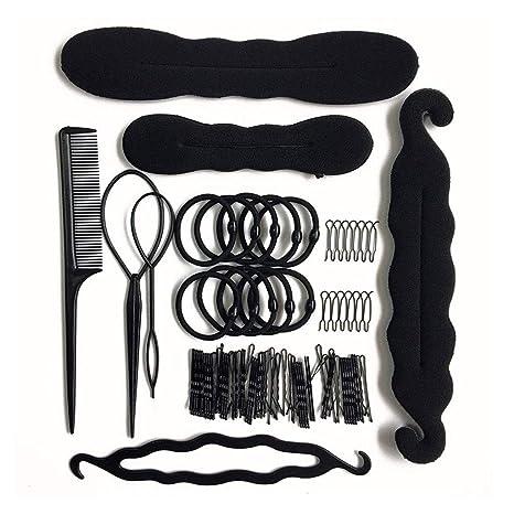 Amazon.com: Accesorios de peinado para hacer coleta, soporte ...