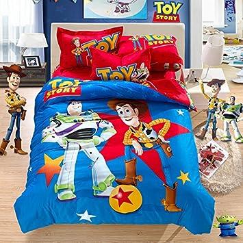 linge de lit toy story Toy story   100% coton naturel Parure de lit Motif lit de Shérif  linge de lit toy story