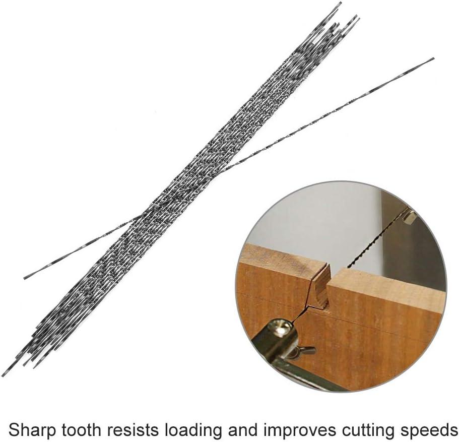 12 pi/èces lames de scie /à chantourner avec dents spirale en m/étal pour bois Plastique Coupe scier Carve Compatible avec la plupart des principaux Scie marques