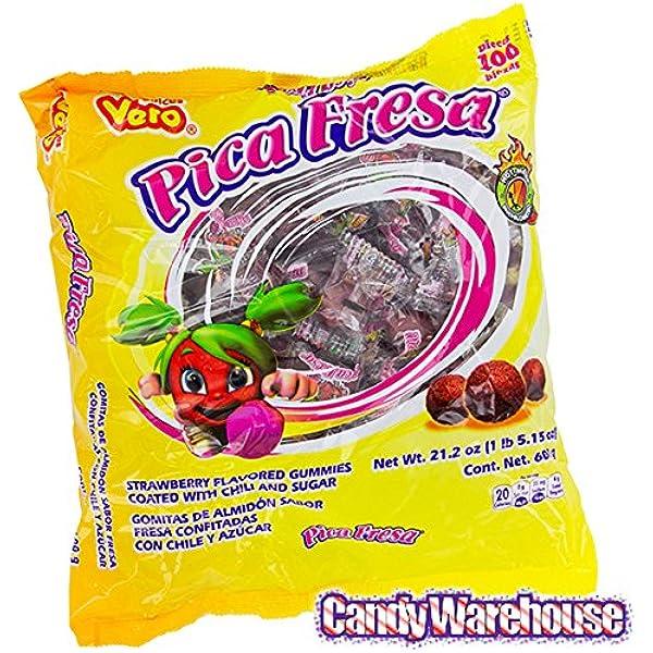 Pica Goma Fresa - Bolsa de 100 unidades: Amazon.es: Alimentación y bebidas