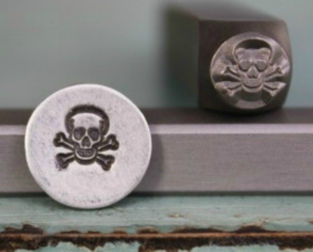 Brand New Supply Guy 6mm Skull /& Crossbones Metal Punch Design Stamp CH-35