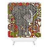 Deny Designs Valentina Ramos Bo The Elephant Shower Curtain Extra Long, 69 x 90