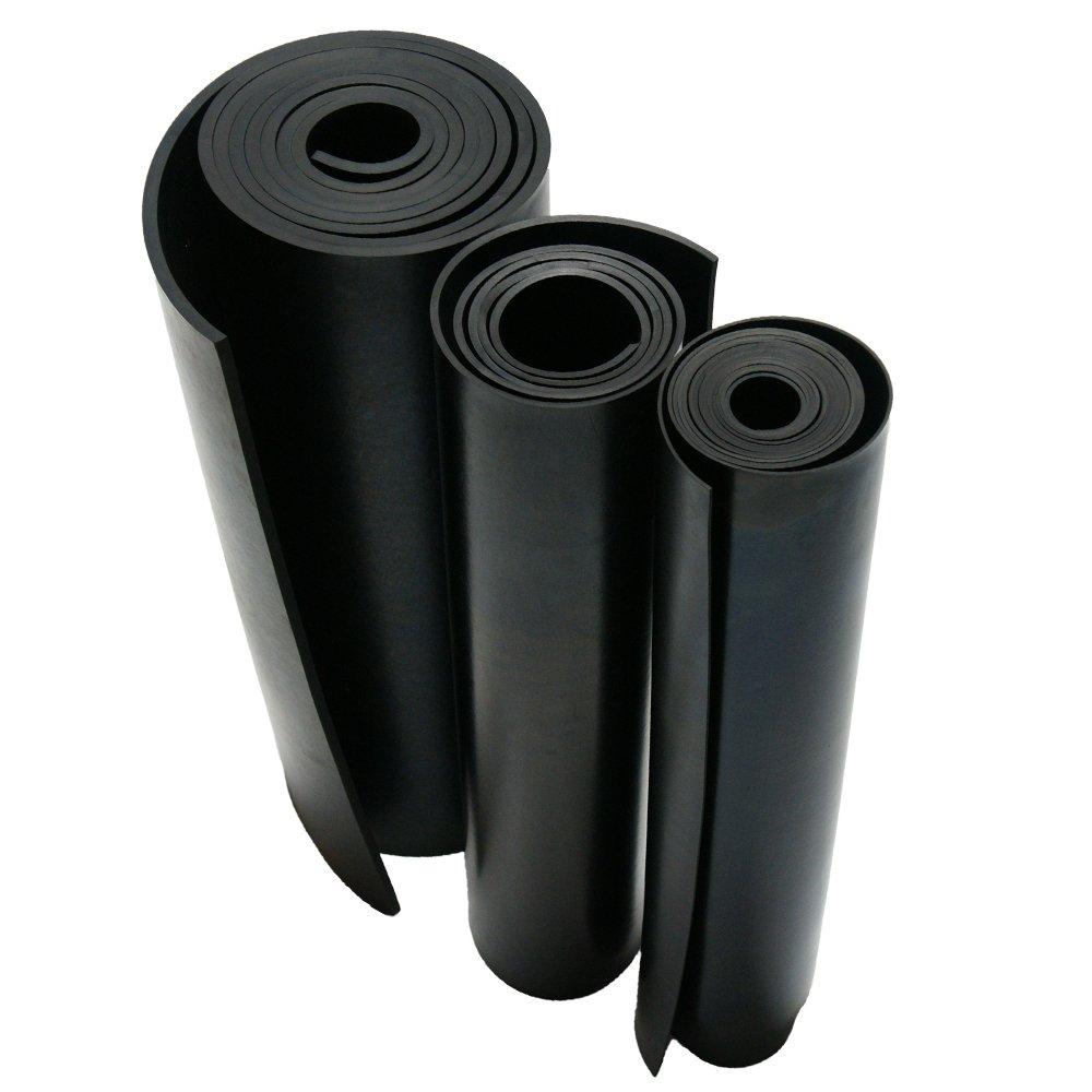Commercial Grade 1//8 Thick x 36 Width x 24 Length 60A Rubber-Cal Neoprene Rubber Sheet