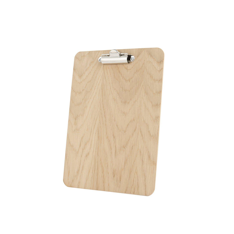 Chalkboards UK - Blocco portafogli in legno con finiture di rovere, A5, 240 x 175 mm Porter and Woodman WC921N