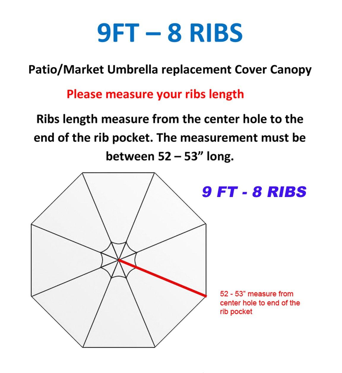 Lovely Amazon.com : 9FT 8 Ribs Umbrella Cover Canopy Green Replacement Top Patio  Market Outdoor Beach : Garden U0026 Outdoor