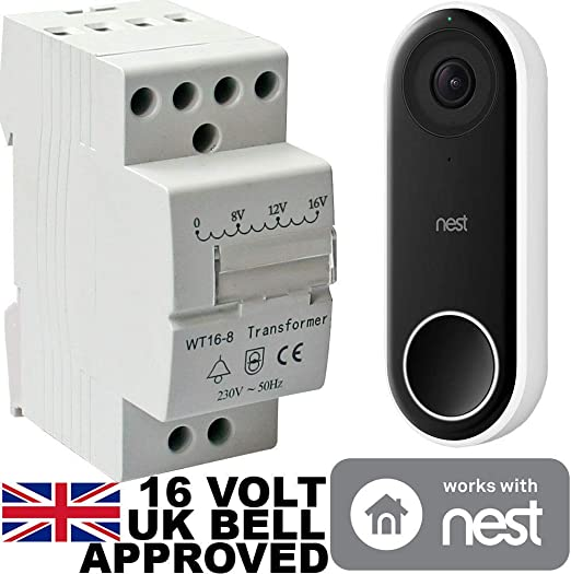 PROTEK Bell Transformer 16V For Nest /& Ring Door Bell Compatible Din Rail Mount