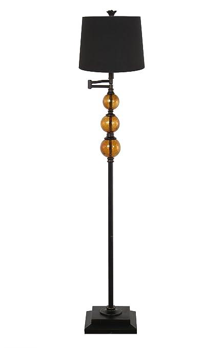 Amazon Com 208 Fryar Design Dark Bronze And Crackle Glass Ball