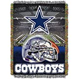 1 Piece NFL Cowboys Throw Blanket 48 X 60 Inches, Football Themed Bedding Sports Patterned, Team Log