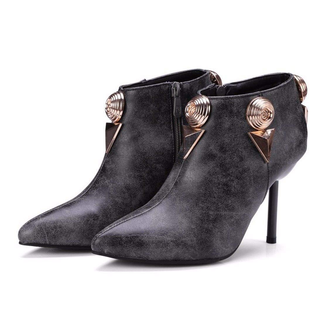 AIKAKA Frauen Herbst und und und Winter Europa und Amerika Sexy warme High Heel Schuhe Kurze Stiefel  ccf73a